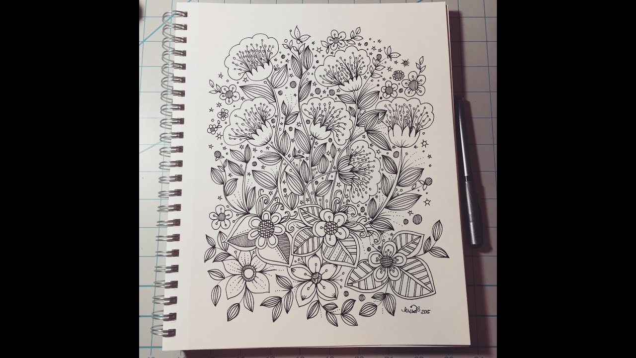 Flower Designs Doodle Art Journal Entry Youtube