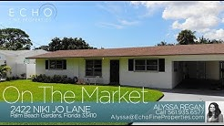 On The Market: 2422 Niki Jo Lane, Palm Beach Gardens, FL 33410