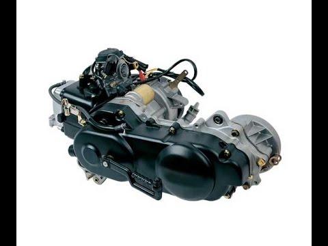 Разборка двигателя на скутере 4т 157QMJ - YouTube