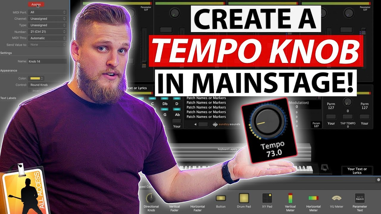 MainStage Tutorial: How to add a tempo knob to your concert