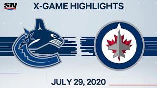 NHL Highlights   Canucks vs. Jets – Jul. 29, 2020
