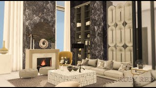 Sims 4 Neoclassical Apartment Tour | + Download 模擬市民4 新古典公寓