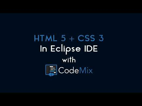 HTML5 And CSS3 In Eclipse IDE With CodeMix