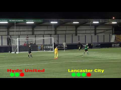 Hyde United V Lancaster City 10th December 2019 Integro League Cup.