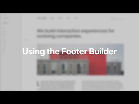 Using The Footer Builder | YOOtheme Documentation (Joomla)