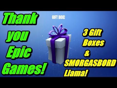 epic-games-gifted-me-3-gift-boxes-&-smorgasbord-llama!- -fortnite-save-the-world