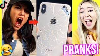 lustigster IPHONE apple PRANK an FREUNDIN (TIKTOK PRANKS)