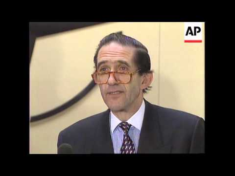 BELGIUM: BRUSSELS: NATO CHIEF WILLY CLAES BRIBERY SCANDAL