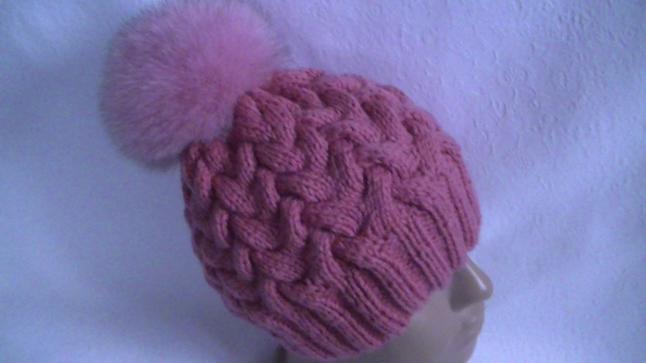 шапка с градиентом спицами мастер класс