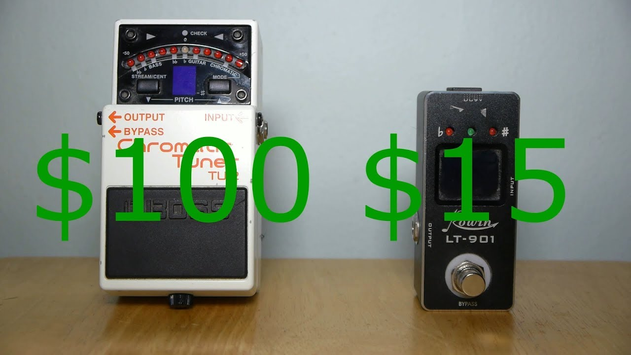 15 guitar pedal tuner vs 100 guitar pedal tuner what 39 s the difference youtube. Black Bedroom Furniture Sets. Home Design Ideas