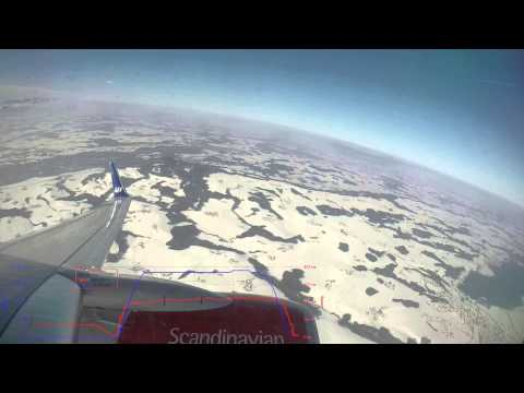 Salzburg (SZG) - Helsinki (HEL) - SAS Flight SK7202 2015-02-07 - Takeoff and Landing