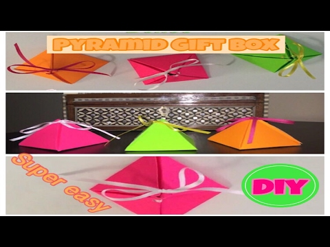 DIY How to make Pyramid gift boxes. Super easy!