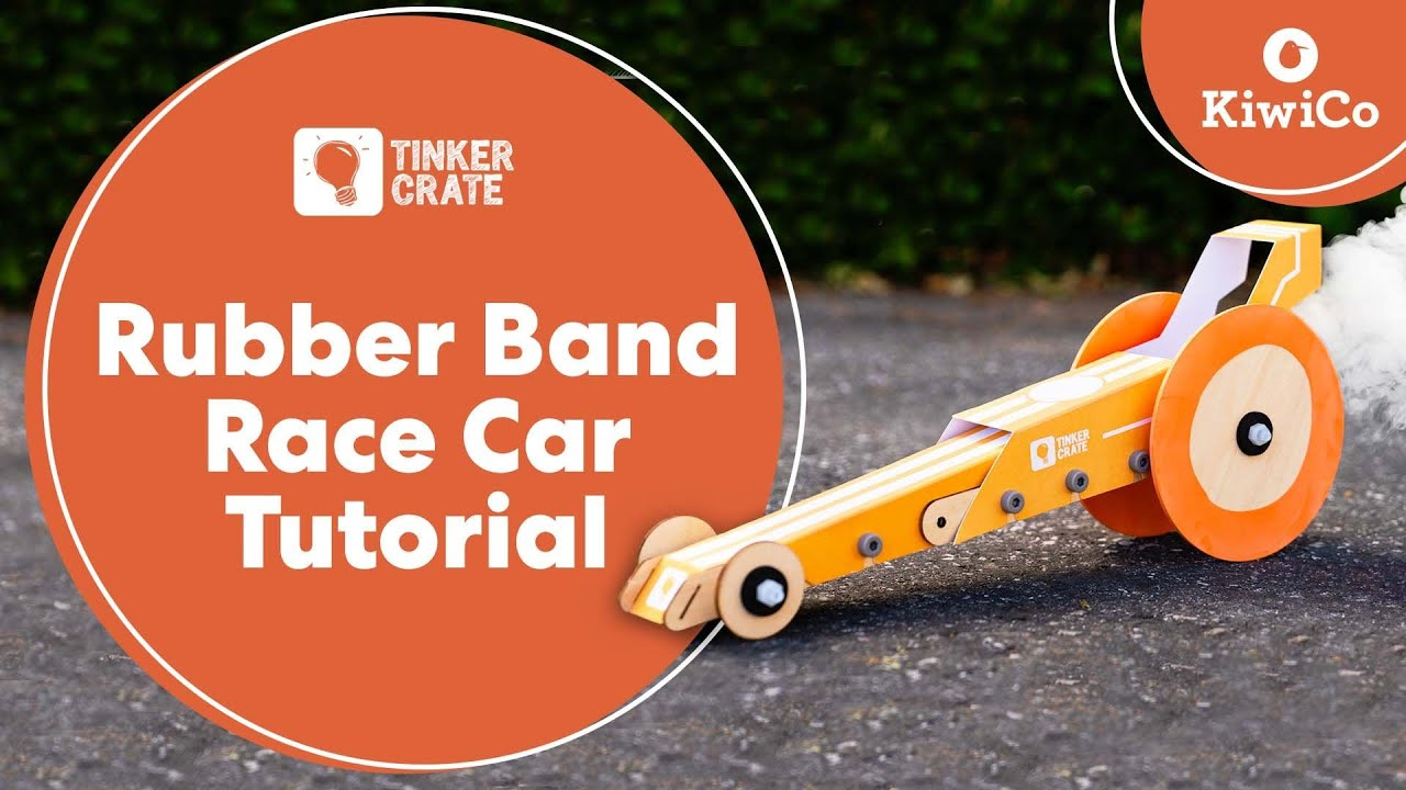 Make A Rubber Band Powered Race Car Youtube