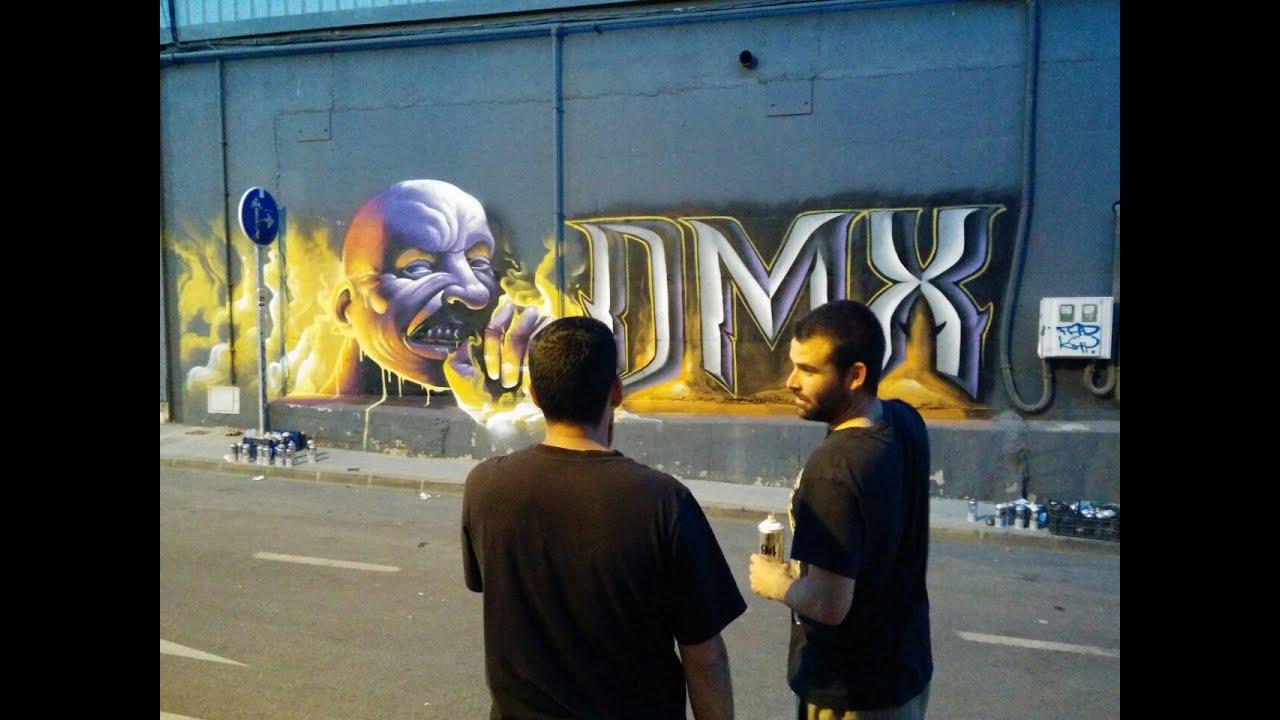Dmx graffiti lalone y elalfil la trinchera malaga youtube for Sala trinchera