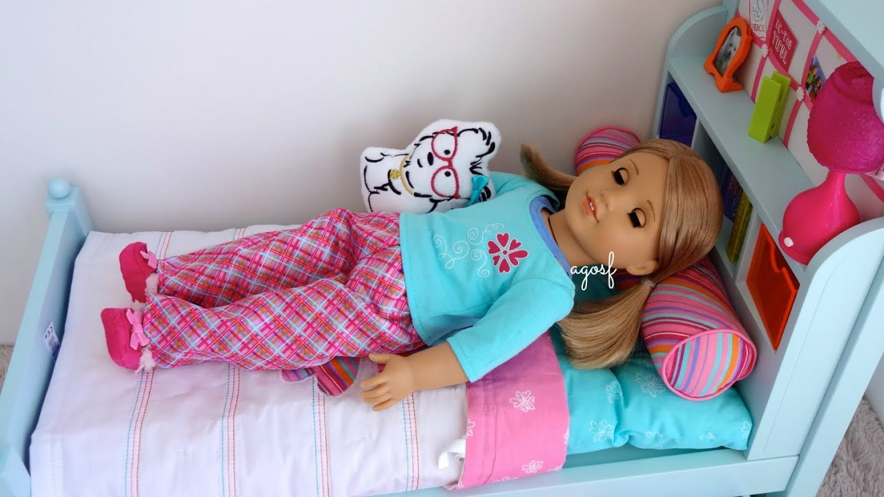 Setting Up American Girl Bouquet Bed   YouTube