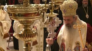 Патриарх Кирилл принял участие в молебне к 10-летию интронизации Патриарха Румынского Даниила