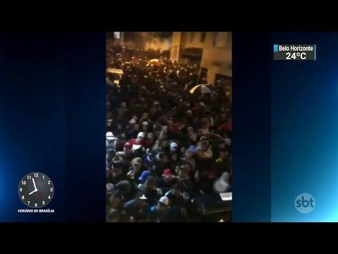 Três pessoas morrem pisoteadas em baile funk na Grande São Paulo | SBT Brasil (19/11/18)