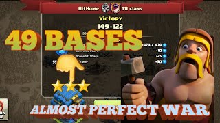 Elite War | Hithome Vs Tr Clans | Almost Perfect War | 149 Stars | Clash Of Clan