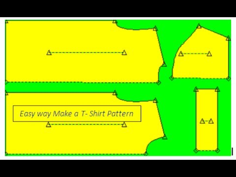 How to Make A T-shirt ! T-Shirt pattern making