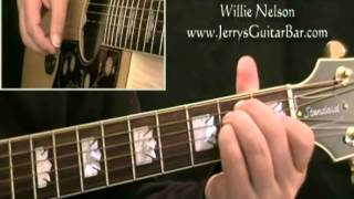 How To Play Willie Nelson Blue Eyes Crying in the Rain - intro only