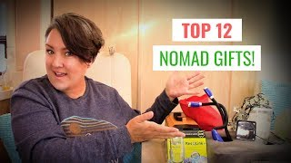 MY TOP 12 GIFTS FOR NOMADS! Five Star Gifts for Travelers, RVers Campers or Vanlife!
