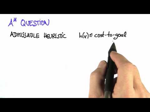 Admissible Heuristic - Artificial Intelligence for Robotics