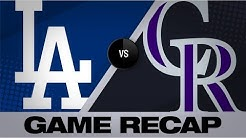Gray dominates in Rockies' 9-1 win | Dodgers-Rockies Game Highlight 7/29