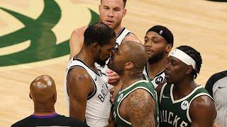 All-Access: Bucks Beat Nets In Game 3   Giannis & Khris Set NBA Record   PJ Tucker Guards KD