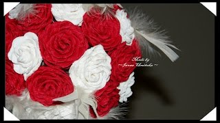 Сделать цветы из гофрированной бумаги(Хотите сделать цветы их гофрированной бумаги? Предлагаю сделать красивые розы или даже букет роз! Как сдела..., 2014-08-03T13:25:03.000Z)