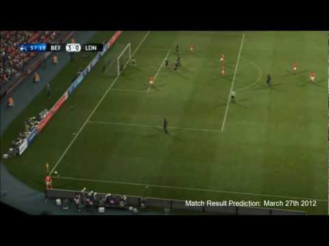 PES 2012 Predicts: Benfica Vs Chelsea 27/3/12 Champions League