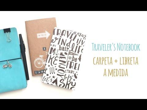 Traveler's Notebook - Carpeta + libreta a medida - TUTORIAL DIY