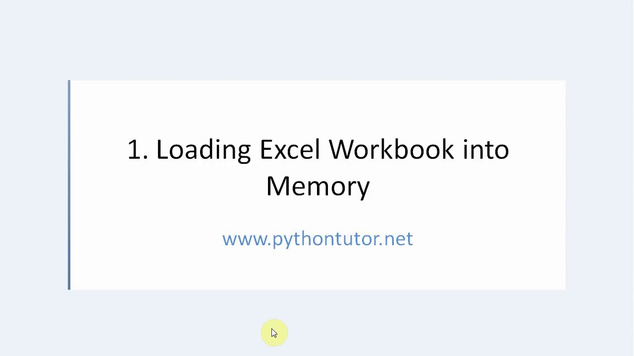 Openpyxl Python - How to use Load Workbook function with examples