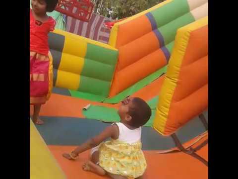 Akshitha and Karthika fun activity