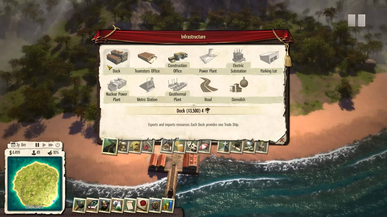 Tropico 5 How Do I Explore Buy Trade Boats And Command El
