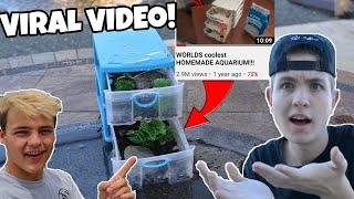 fOLLOWING Paul Cuffaro's VIRAL Video (WORLDS coolest HOMEMADE AQUARIUM!)