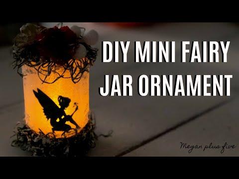 DIY LIGHT UP FAIRY JAR CHRISTMAS ORNAMENT | WINTER FAIRY JAR | DOLLAR TREE MASON JAR ORNAMENT