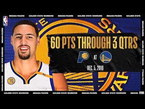 Pacers @ Warriors: Klay Scores Career-high 60 PTS In 3 Quarters (Dec. 5, 2016) #NBATogetherLive