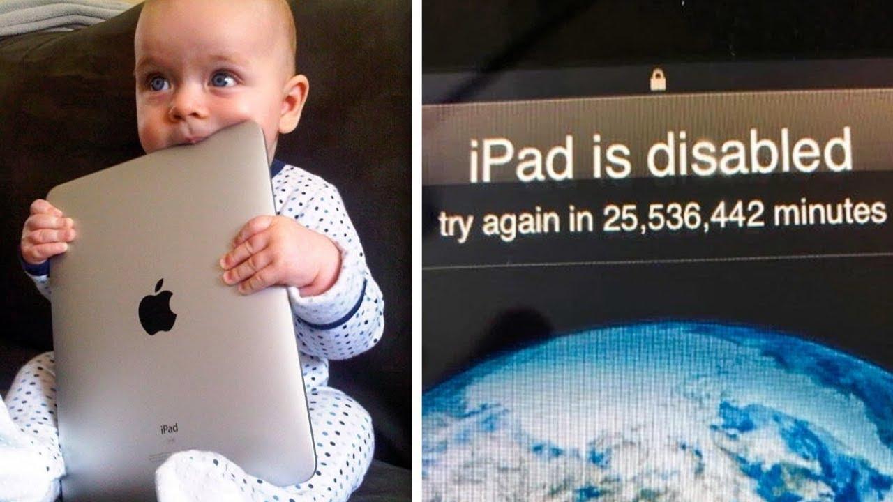A Criança Tenta Tanto Desbloquear O Ipad Do Pai Que Ele Acaba Sendo Bloqueado Por Mais De 47 Anos