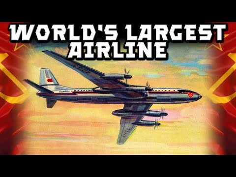 Cartaz publicitário da Aeroflot, a companhia aérea da URSS