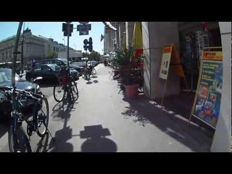 Fahrradfahrt von Wien Hietzing in den ersten Bezirk