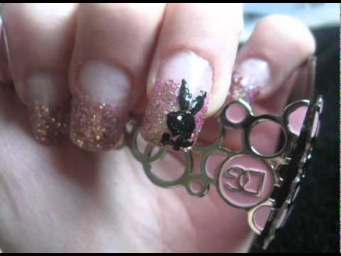 Playboy bunny nail design and tutorial youtube playboy bunny nail design and tutorial prinsesfo Image collections