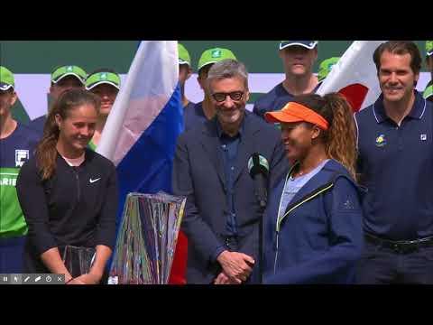 "Naomi Osaka, Indian Wells 2018 ""the worst acceptance speech"", she said"