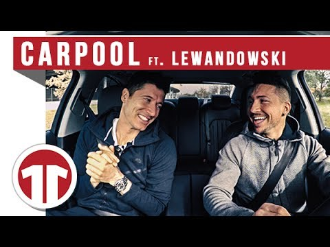 Carpool with Robert Lewandowski... Is he a Singer??? | 11TS 🚗😃🎤
