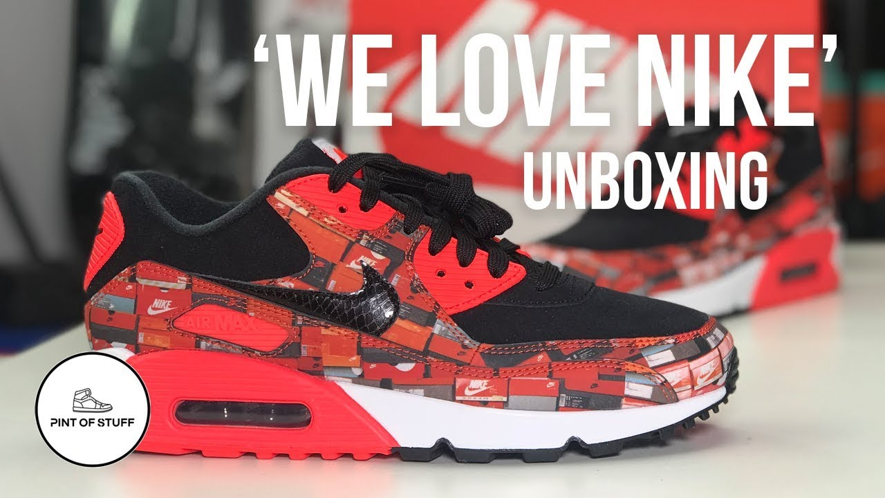 the latest d36fc 0df04 Nike x Atmos  We Love Nike  Air Max 90 Sneaker Unboxing with SJ