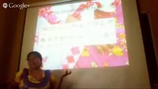 Curso sobre cultura Ñuu Savi.  Ofelia Pineda