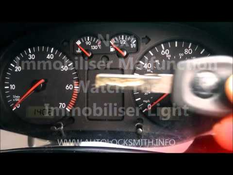 Vw Audi Seat Skoda immobiliser problem correct operation and malfunction