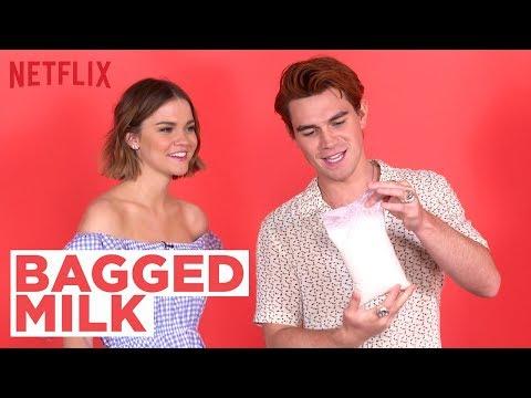 Bagged Milk?? w/ The Last Summer Cast ft. KJ Apa & Maia Mitchell   Netflix
