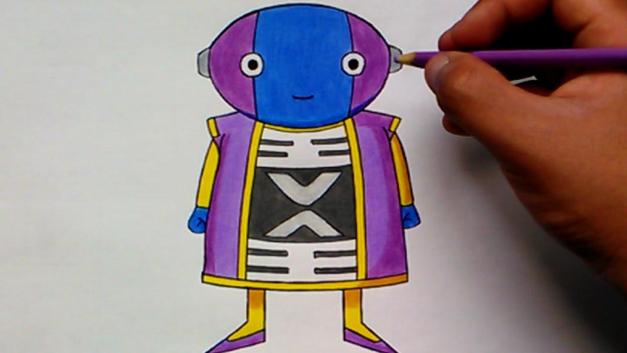Como Dibujar A Zeno Sama Dragon Ball Super How To Draw Zeno Sama