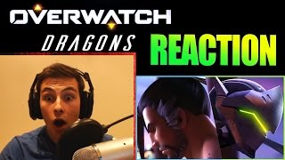 """Overwatch Animated Short   """"Dragons"""" REACTION!"""