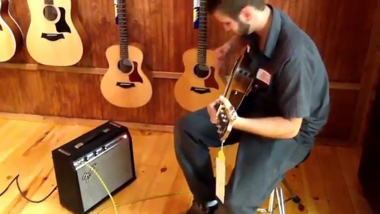 justin frye plays an electric acoustic guitar through the little amp youtube. Black Bedroom Furniture Sets. Home Design Ideas